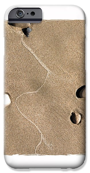 art in the sand series 4 iPhone Case by Bob Salo