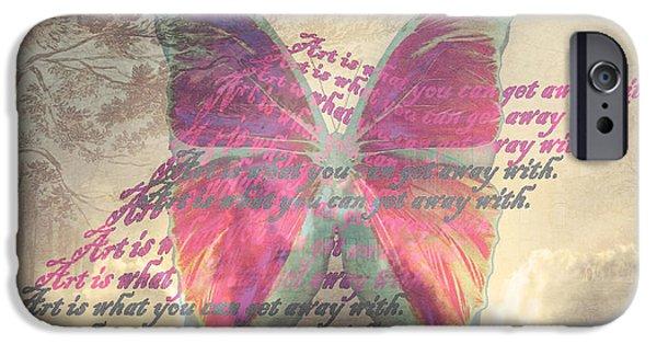 Photo Manipulation Pastels iPhone Cases - Art is ..... iPhone Case by Yvon van der Wijk