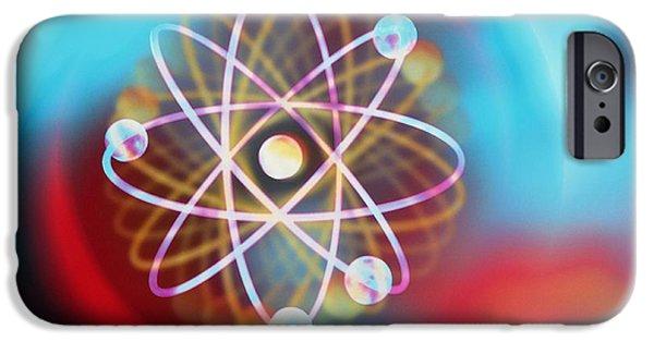 Atom Photographs iPhone Cases - Art Representing A Beryllium Atom iPhone Case by Mehau Kulyk