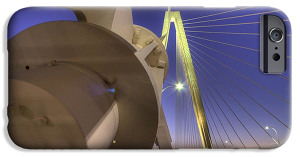 Cable iPhone Cases - Arthur Ravenel Jr. Bridge Charleston SC iPhone Case by Dustin K Ryan