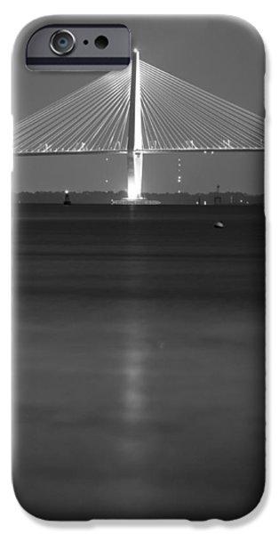 Arthur iPhone Cases - Arthur Ravenel Jr. Bridge  iPhone Case by Dustin K Ryan