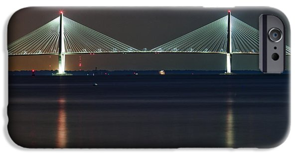 Cable iPhone Cases - Arthur Ravenel Jr. Bridge II iPhone Case by Dustin K Ryan