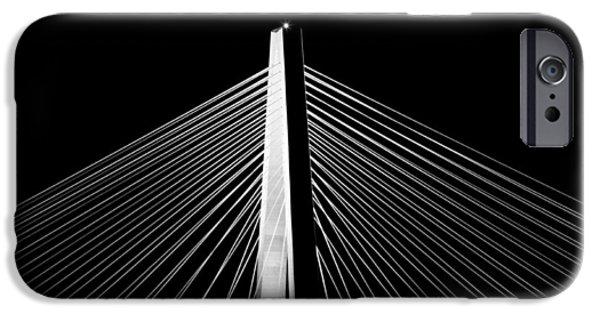 Arthur iPhone Cases - Arthur Ravenel Jr. Bridge Lines iPhone Case by Dustin K Ryan