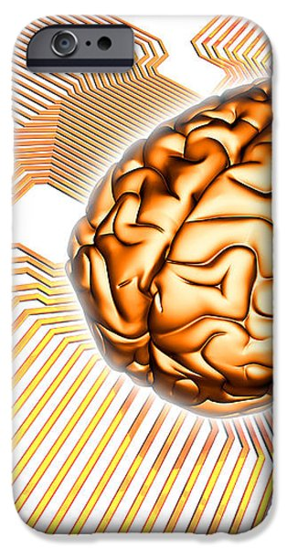 Artificial Intelligence, Computer Artwork iPhone Case by Pasieka