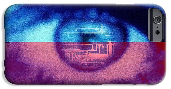 Circuit iPhone Cases - Artificial Intelligence, Conceptual Art iPhone Case by Hannah Gal