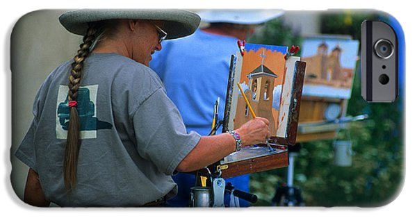 Best Sellers -  - Painter Photo Photographs iPhone Cases - Artists At Work In Taos iPhone Case by Bob Christopher