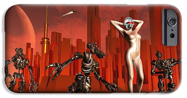 Best Sellers -  - Cyberspace iPhone Cases - Artists Concept Of A Hot Pinup Pleasure iPhone Case by Mark Stevenson