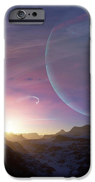 Artists Concept Of A Scene iPhone Case by Brian Christensen