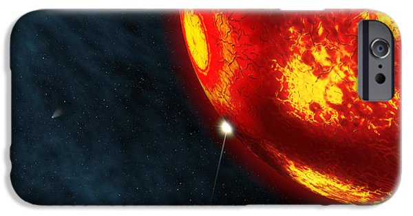 Destiny Digital iPhone Cases - Artists Concept Of An Early Earth iPhone Case by Walter Myers
