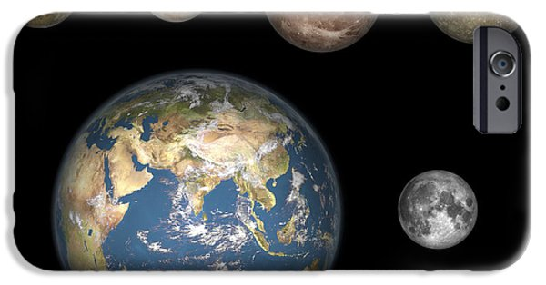 Galilean Moon iPhone Cases - Artists Concept Of Jupiters Four iPhone Case by Walter Myers