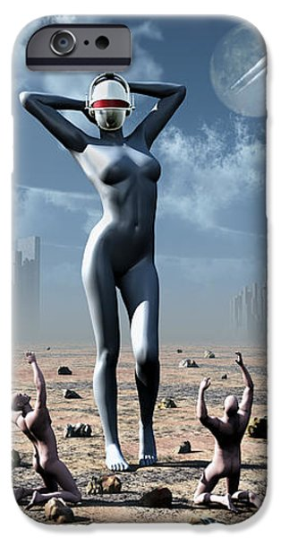 Artists Concept Of Mankinds Reliance iPhone Case by Mark Stevenson