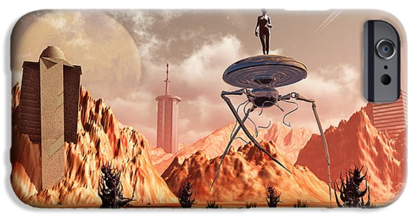 Built Structure Digital Art iPhone Cases - Artists Concept Of What Life On Mars iPhone Case by Mark Stevenson