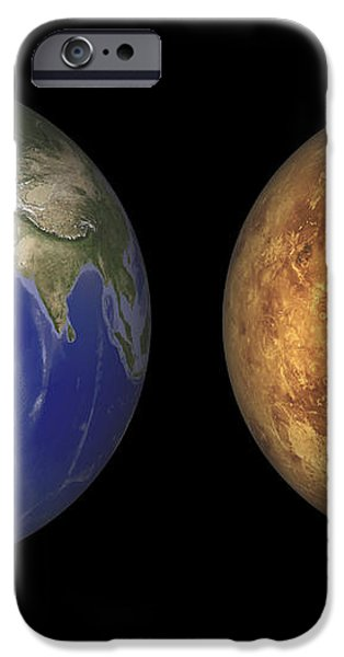 Artists Concept Showing Earth And Venus iPhone Case by Walter Myers