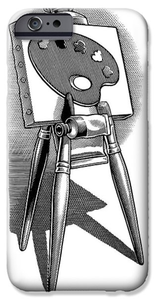 Artist's Easel, Artwork iPhone Case by Bill Sanderson