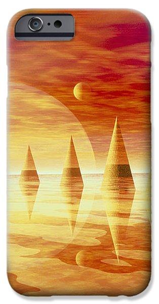 Artwork Of An Alien Landscape iPhone Case by Mehau Kulyk