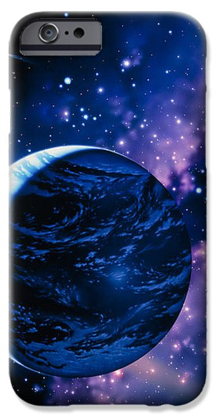 Artwork Of Comets Passing The Earth iPhone Case by Joe Tucciarone