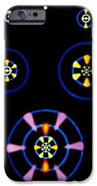 Electron Orbital iPhone Cases - Artwork Showing Electron Clouds Of Atoms iPhone Case by David Parker