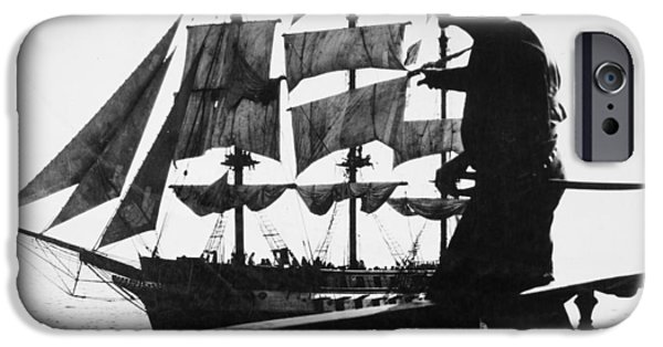 Pirate Ship iPhone Cases - As No Man Has Loved, 1925 iPhone Case by Granger
