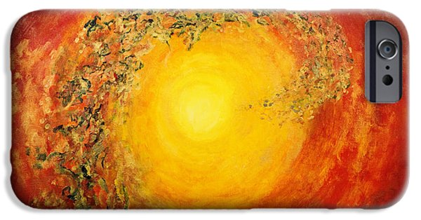 Cosmic Space Paintings iPhone Cases - Ascending Light iPhone Case by Tara Thelen - Printscapes