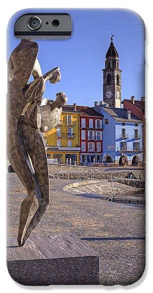 House Art Photographs iPhone Cases - Ascona - Switzerland iPhone Case by Joana Kruse