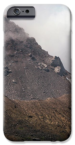 Ash And Gas Rising From Lava Dome iPhone Case by Richard Roscoe