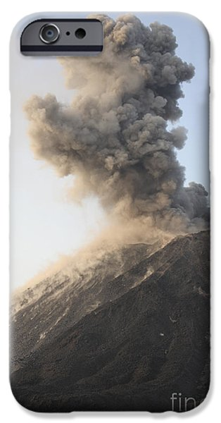 Ash Cloud From Vulcanian Eruption iPhone Case by Richard Roscoe