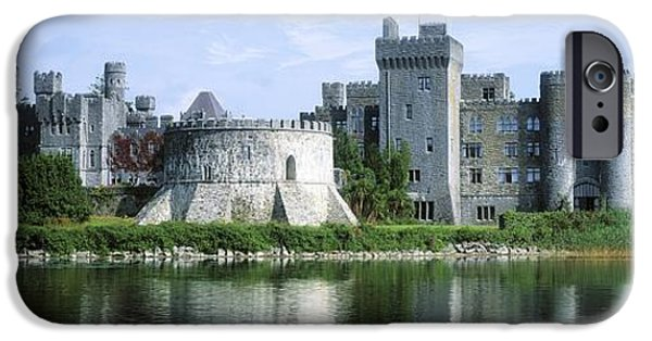 Historic Site iPhone Cases - Ashford Castle, Lough Corrib, Co Mayo iPhone Case by The Irish Image Collection