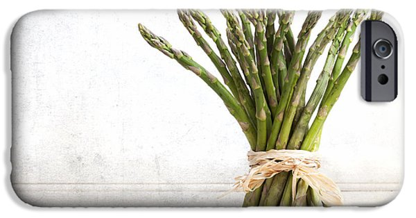 Age iPhone Cases - Asparagus vintage iPhone Case by Jane Rix