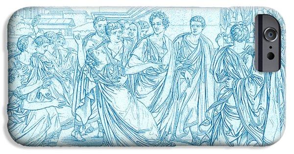 Julius Caesar iPhone Cases - Assassination Of Julius Caesar, 44 Bc iPhone Case by Photo Researchers