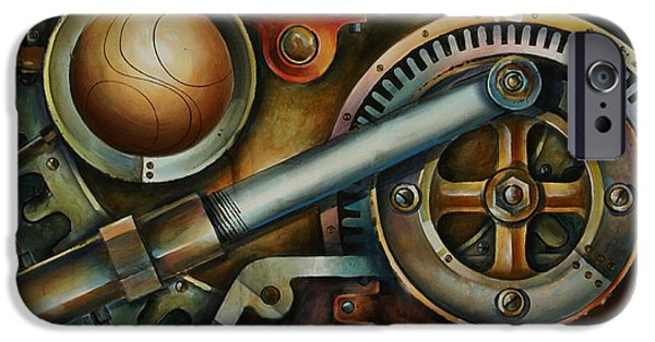 Pulley iPhone Cases - Assembled iPhone Case by Michael Lang