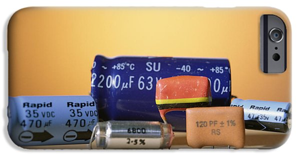 Capacitors iPhone Cases - Assorted Capacitors iPhone Case by Andrew Lambert Photography