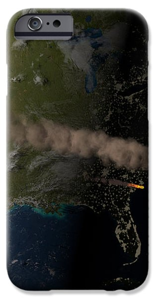 Asteroid Approaching Earth iPhone Case by Joe Tucciarone Library