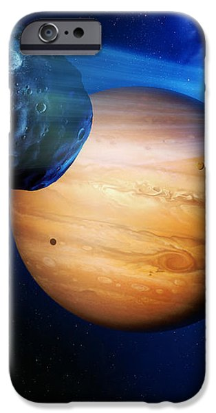 Asteroid Passing Jupiter iPhone Case by Detlev Van Ravenswaay