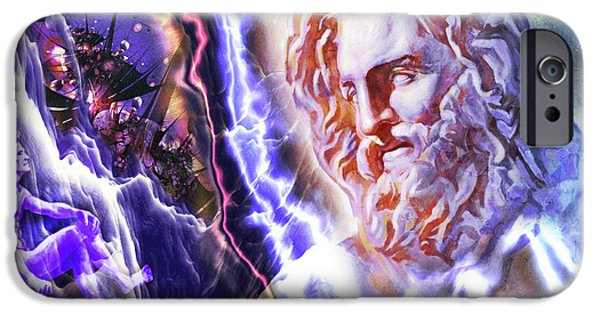 Zeus iPhone Cases - Astral experience iPhone Case by Stefano Popovski