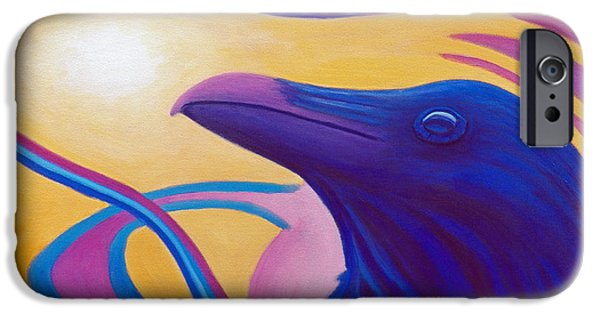Corvid iPhone Cases - Astral Raven iPhone Case by Brian  Commerford