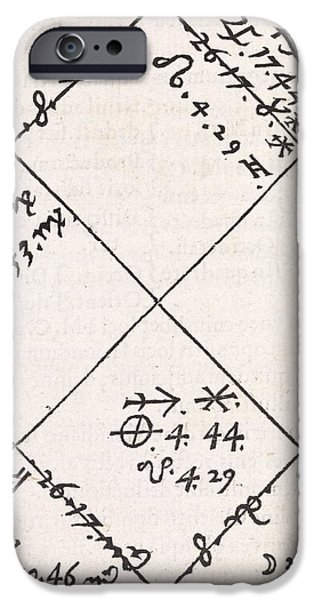 Astrology Chart, 16th Century iPhone Case by Middle Temple Library