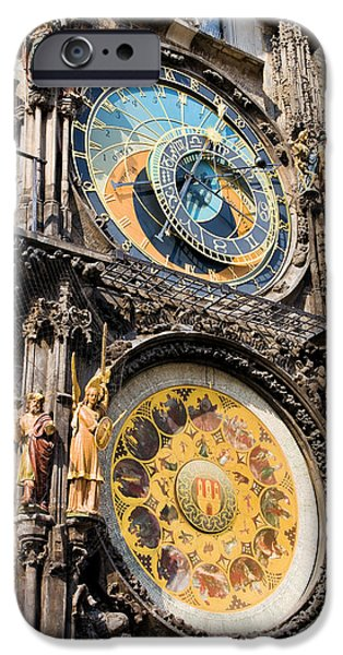 Astronomical Clock in Prague iPhone Case by Artur Bogacki