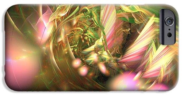 Colorful Abstract Algorithmic Contemporary iPhone Cases - At dawn - Fractal art iPhone Case by Sipo Liimatainen