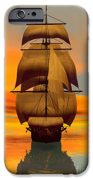 Full Sail iPhone Cases - At Full Sail iPhone Case by Sandra Bauser Digital Art