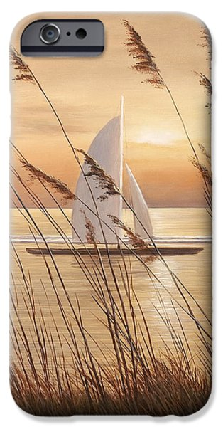 AT LAST iPhone Case by Diane Romanello