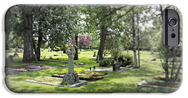 Cemetary iPhone Cases - At Peace iPhone Case by Marilyn Wilson