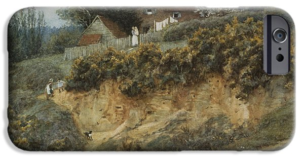 19th Century iPhone Cases - At Sandhills Witley iPhone Case by Helen Allingham