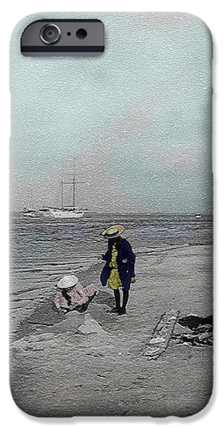 At the Beach iPhone Case by Andrew Fare