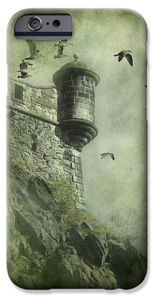 Eerie Mixed Media iPhone Cases - At the Top iPhone Case by Svetlana Sewell