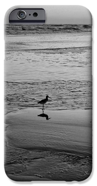 At Twilight in Black and White iPhone Case by Suzanne Gaff
