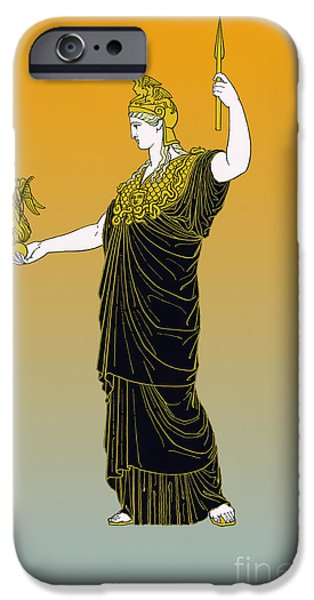 Athena, Greek Goddess iPhone Case by Photo Researchers