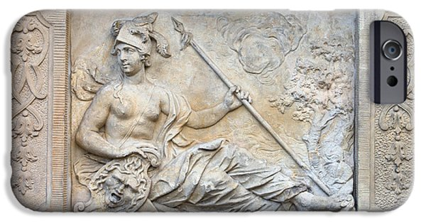 Warrior Goddess Photographs iPhone Cases - Athena Relief in Gdansk iPhone Case by Artur Bogacki