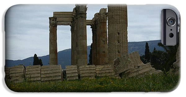 Zeus iPhone Cases - Athens Ruins iPhone Case by Kevin Flynn