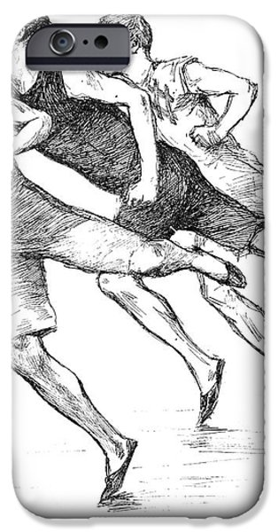 ATHLETICS: TRACK, 1890 iPhone Case by Granger