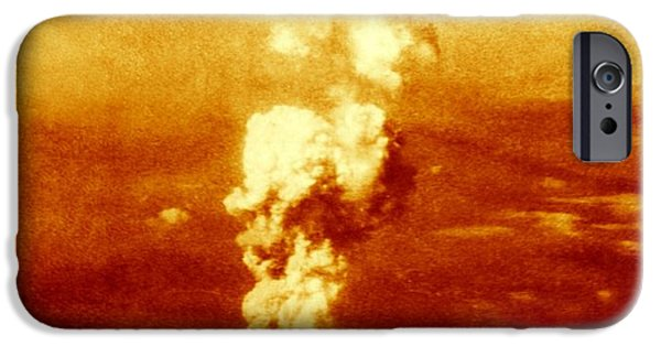 False Power iPhone Cases - Atomic Burst Over Hiroshima, 1945 iPhone Case by Us National Archives And Records Administration